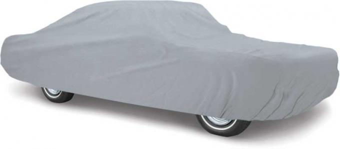 OER 1979-86 Mustang Notchback/Convertible Weather Blocker Plus Gray Car Cover - Four Layers Outdoor Use MT8907GGR