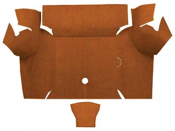 OER 1967-68 Mustang Coupe Nylon Loop Carpet Trunk Mat - Saddle A4077A24