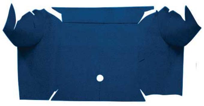 OER 1967-68 Mustang Convertible Nylon Trunk Carpet Mat Only - Dark Blue A4081A12