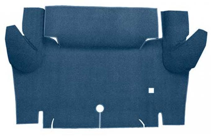 OER 1965-66 Mustang Coupe Loop Trunk Floor Carpet Mat - Ford Blue A4048A62