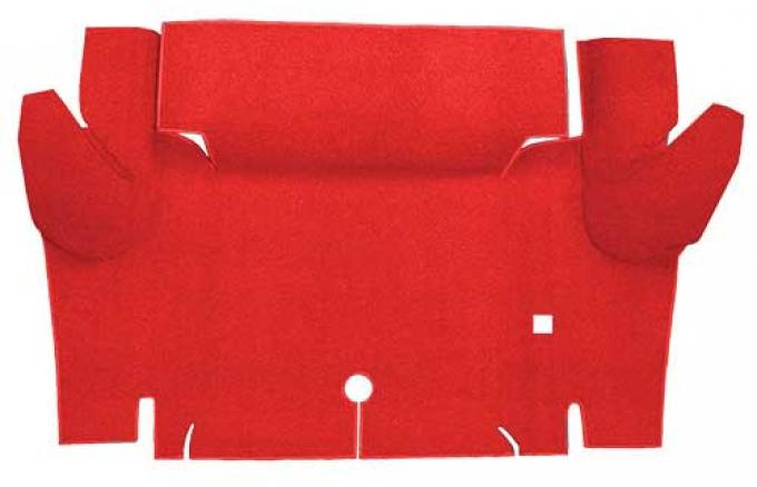 OER 1965-66 Mustang Convertible Nylon Loop Carpet Trunk Mat - Red A4069A02