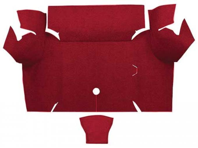 OER 1967-68 Mustang Coupe Nylon Loop Carpet Trunk Mat - Maroon A4077A15