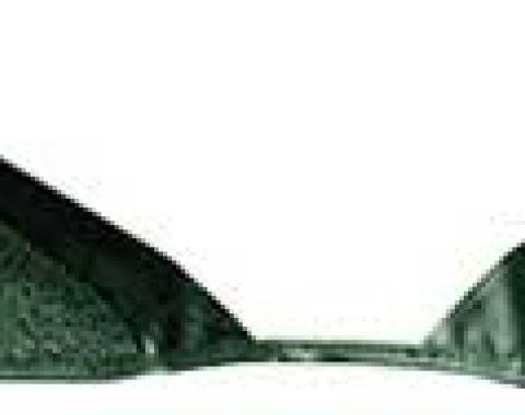 OER 1965-68 Mustang Convertible Loop Carpet Kick Panel Inserts - Moss Green A4072A19