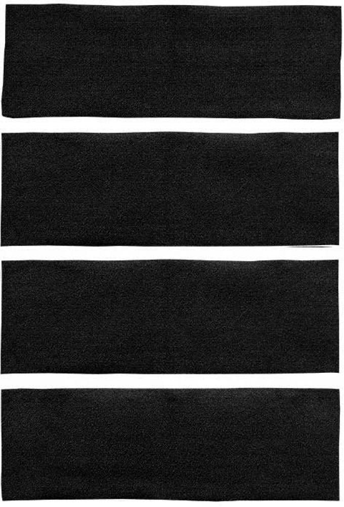 OER 1971-73 Mustang Fastback 4 Piece Nylon Loop Fold Down Carpet Set - Black A4043A01
