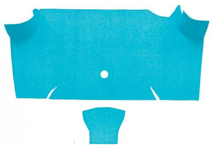 OER 1967-68 Mustang Fastback Nylon Loop Carpet Trunk Mat - Light Blue A4085A31