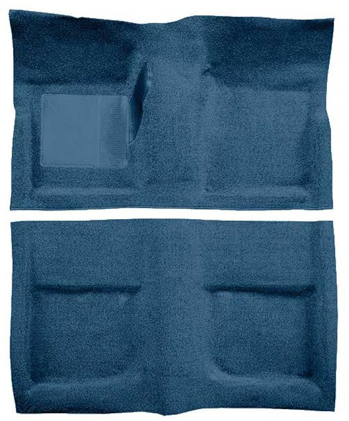 OER 1965-68 Mustang Coupe Passenger Area Loop Floor Carpet - Medium Blue A4040A41
