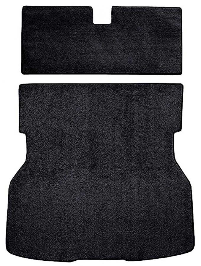 OER 1983 Mustang with Bench Seat Rear Cargo Area Cut Pile Carpet - Black A4023A01