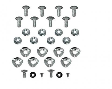 OER 1965-68 Mustang Bumper Bolt Mounting Kit Front & Rear (28 pcs) HK13