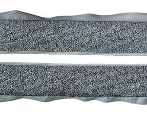OER 1981-86 Mustang Coupe/Hatchback With Power Locks Door Panel Carpet Inserts - Dark Gray A413047