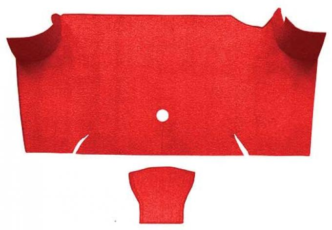 OER 1967-68 Mustang Fastback Nylon Loop Carpet Trunk Mat - Red A4085A02