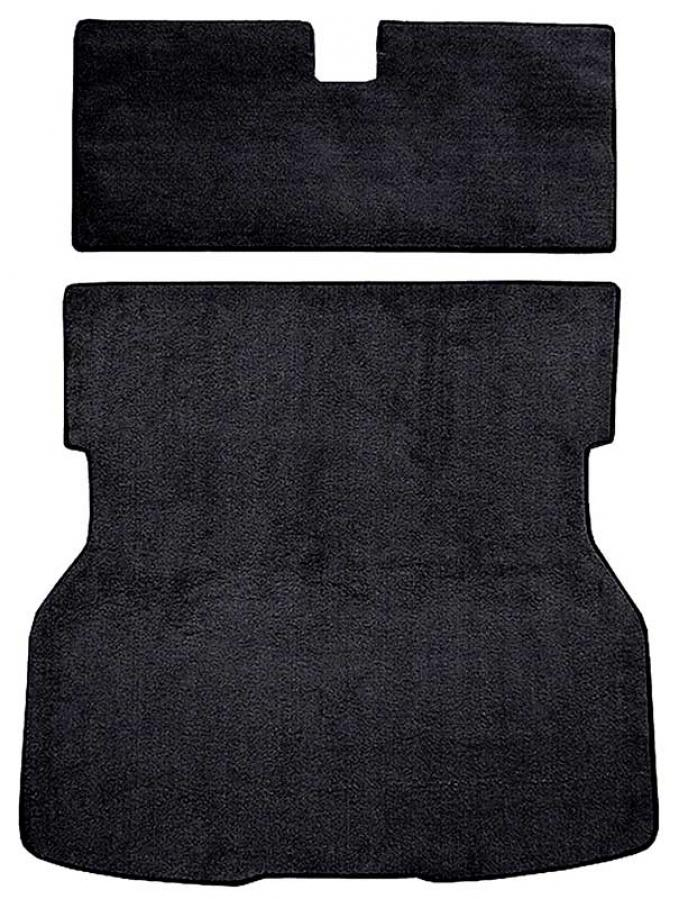 OER 1979-82 Mustang Rear Cargo Area Cut Pile Carpet with Mass Backing - Black A4021B01