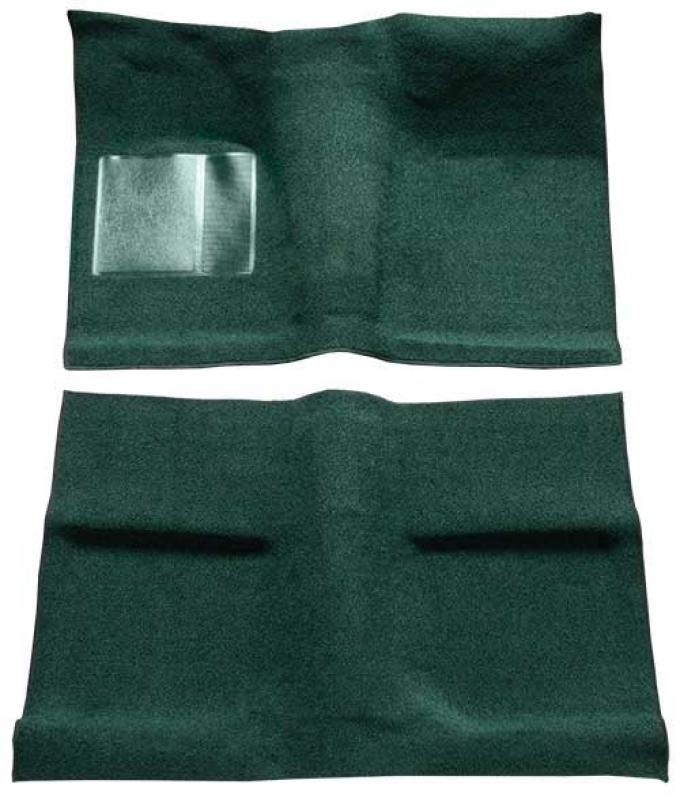 OER 1964 Mustang Coupe Passenger Area Loop Floor Carpet Set with Mass Backing - Dark Green A4030B13