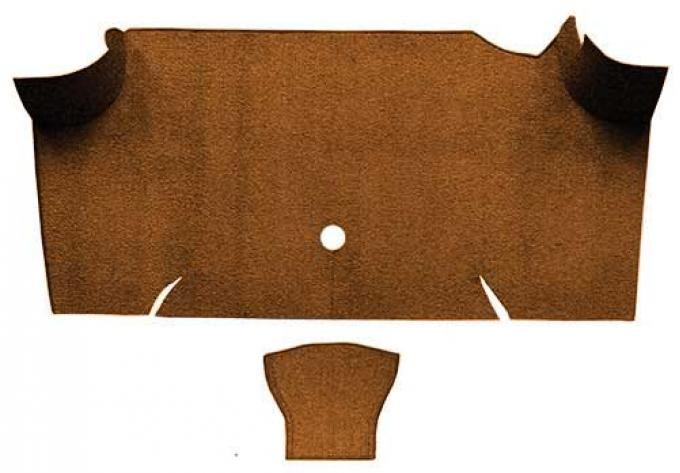 OER 1967-68 Mustang Fastback Nylon Loop Carpet Trunk Mat - Saddle A4085A24