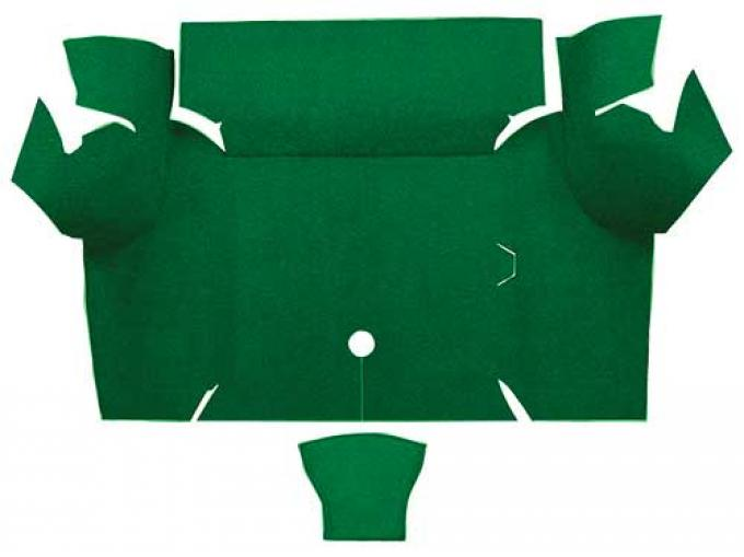 OER 1967-68 Mustang Coupe Nylon Loop Carpet Trunk Mat - Green A4077A39