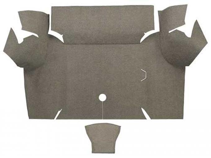 OER 1967-68 Mustang Coupe Loop Carpet Trunk Mat - Parchment A4060A07