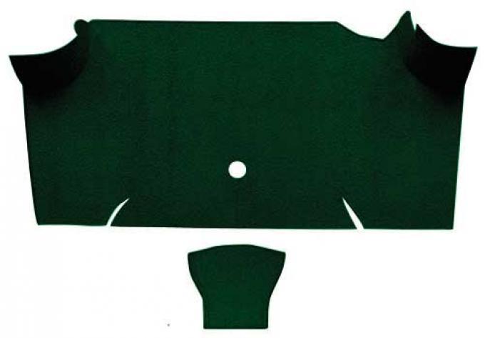OER 1967-68 Mustang Fastback Nylon Loop Carpet Trunk Mat - Dark Green A4085A13