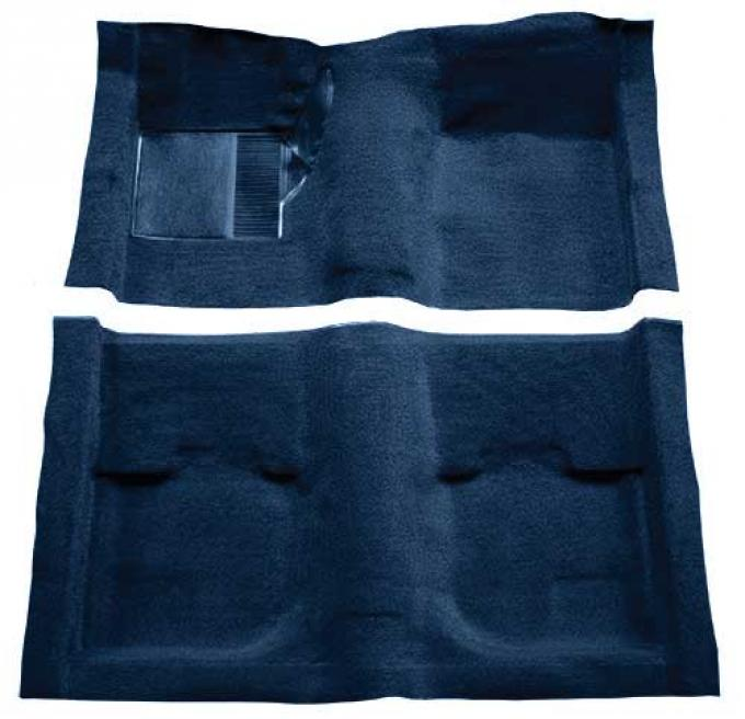 OER 1969-70 Mustang Fastback Passenger Area Nylon Loop Carpet without Fold Downs - Dark Blue A4051A12