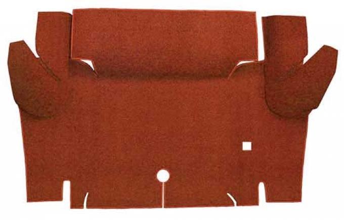 OER 1965-66 Mustang Convertible Loop Carpet Trunk Floor Mat - Red A4052A02