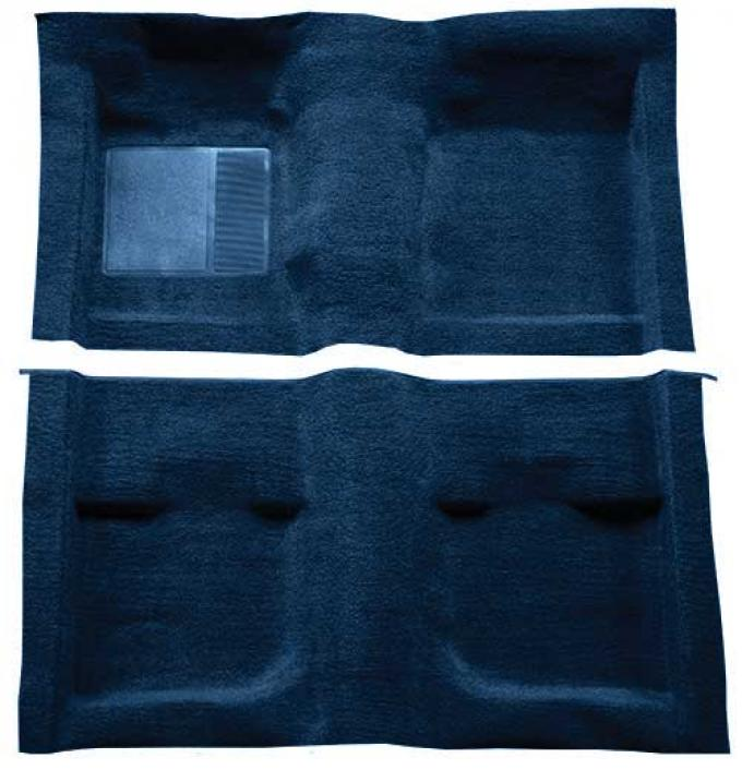 OER 1971-73 Mustang Coupe / Fastback Passenger Area Nylon Loop Carpet with Mass Backing - Dark Blue A4057B12