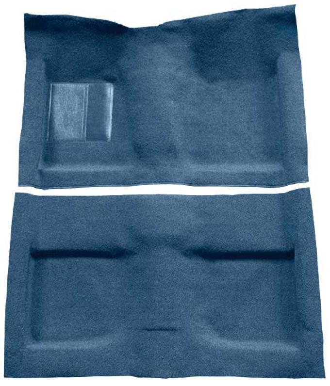 OER 1964 Mustang Convertible Passenger Area Loop Floor Carpet Set - Ford Blue A4032A62