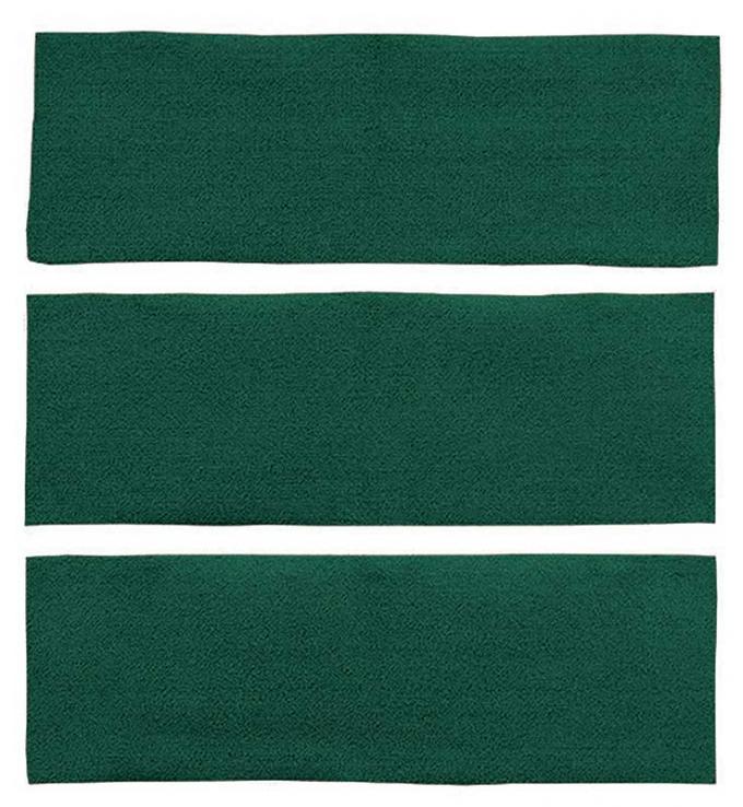 OER 1964-68 Mustang Fastback 3 Piece Fold Down Nylon Loop Carpet Set - Dark Green A4039A13