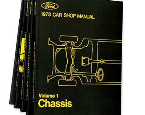 OER 1973 Ford/Lincoln/Mercury Shop Manual Set - Five Volumes L15-CM