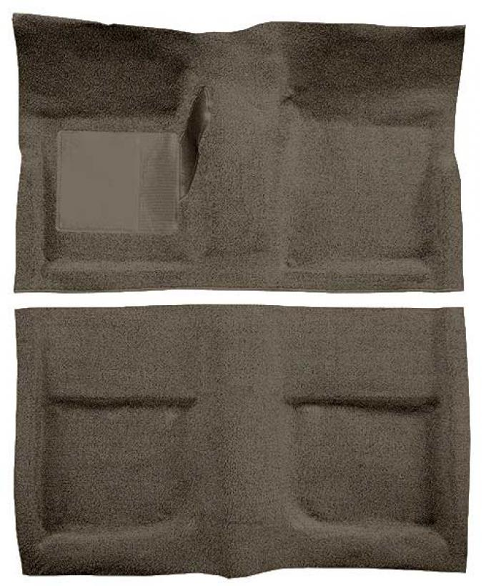 OER 1965-68 Mustang Convertible Passenger Area Loop Floor Carpet with Mass Backing - Parchment A4042B07