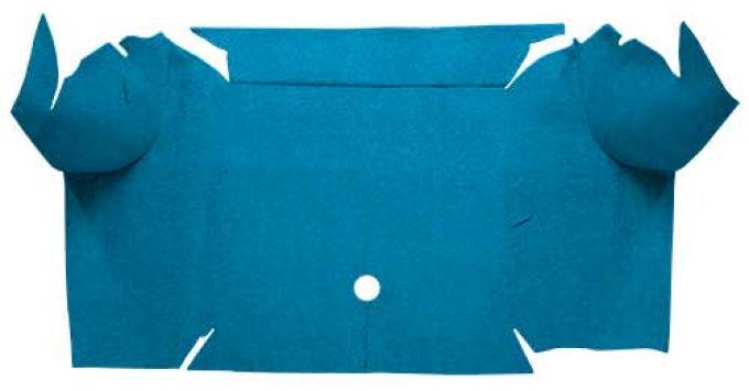 OER 1967-68 Mustang Convertible Loop Carpet Trunk Mat - Medium Blue A4064A41