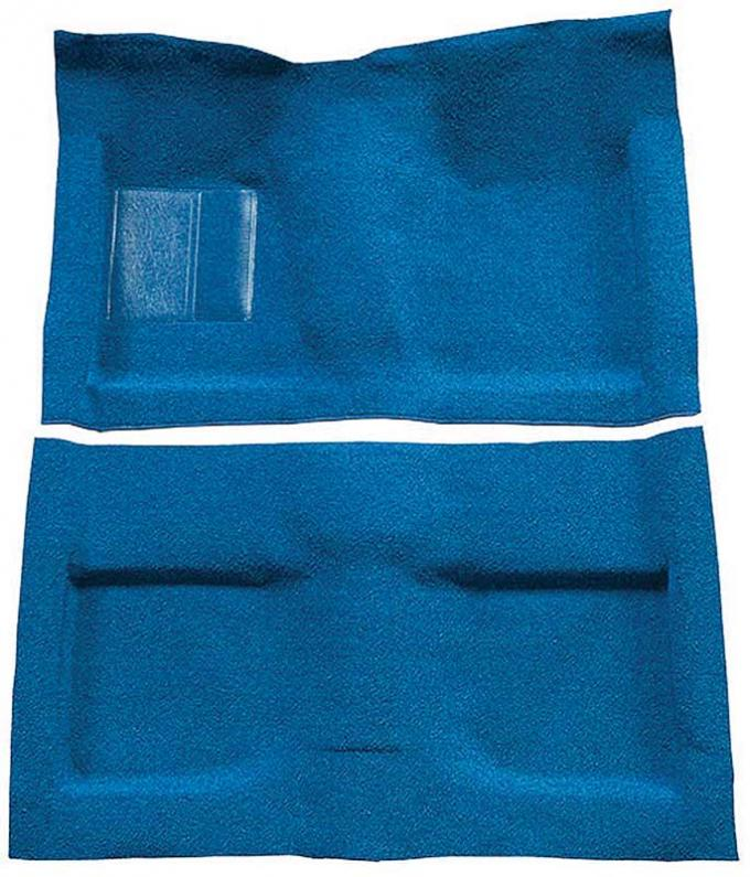 OER 1964 Mustang Convertible Passenger Area Nylon Loop Floor Carpet Set - Medium Blue A4033A41