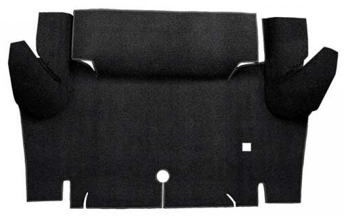 OER 1965-66 Mustang Coupe Loop Trunk Floor Carpet Mat - Black A4048A01