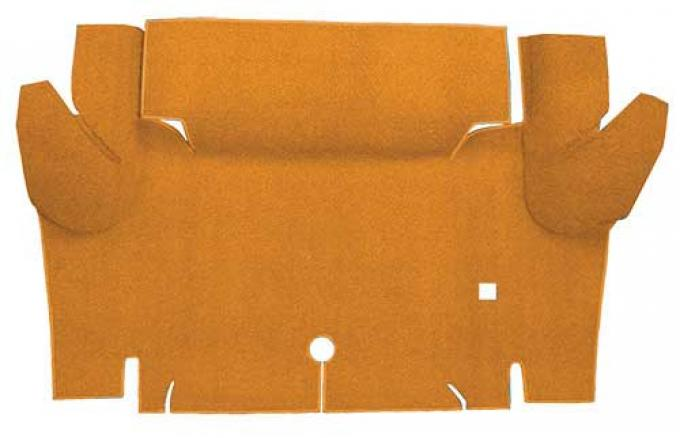 OER 1965-66 Mustang Convertible Nylon Loop Carpet Trunk Mat - Medium Saddle A4069A69