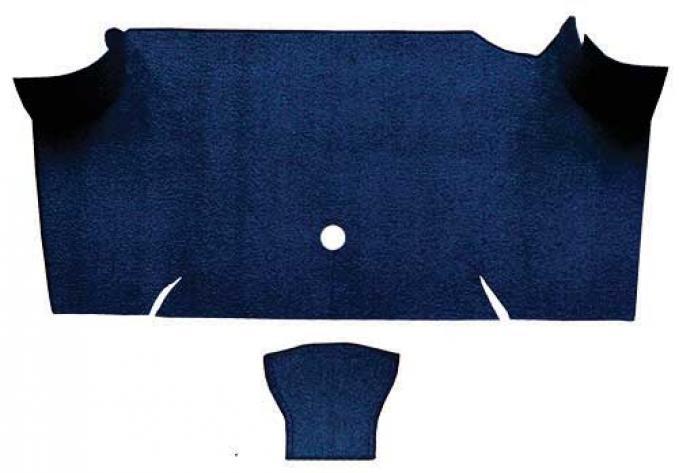 OER 1967-68 Mustang Fastback Loop Carpet Trunk Mat - Dark Blue A4068A12