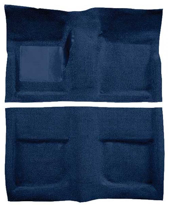 OER 1965-68 Mustang Convertible Passenger Area Loop Floor Carpet with Mass Backing - Dark Blue A4042B12
