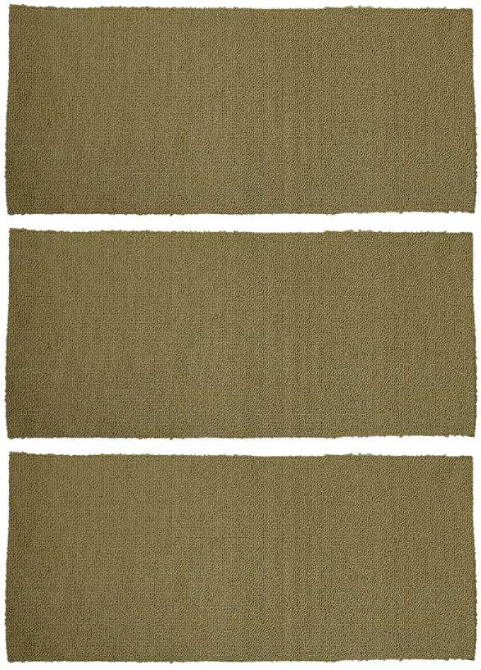 OER 1964-68 Mustang Fastback 3 Piece Fold Down Loop Carpet Set - Ivy Gold A4038A09