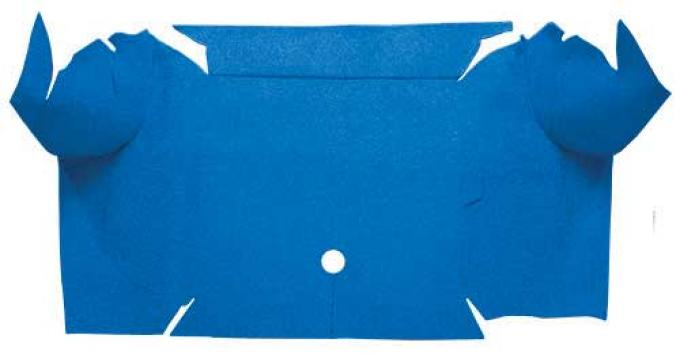 OER 1967-68 Mustang Convertible Nylon Loop Carpet Trunk Mat - Medium Blue A4081A41