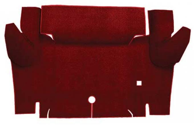 OER 1965-66 Mustang Coupe Loop Trunk Floor Carpet Mat - Emberglow A4048A49