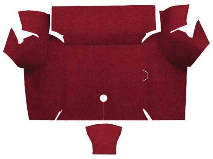 OER 1967-68 Mustang Coupe Loop Carpet Trunk Mat - Maroon A4060A15
