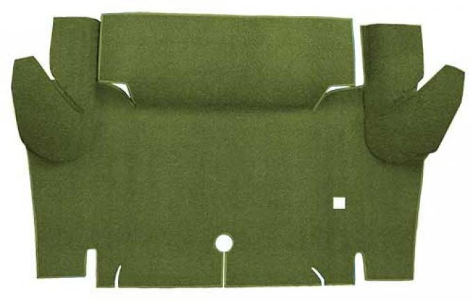 OER 1965-66 Mustang Coupe Nylon Loop Carpet Trunk Mat - Moss Green A4065A19