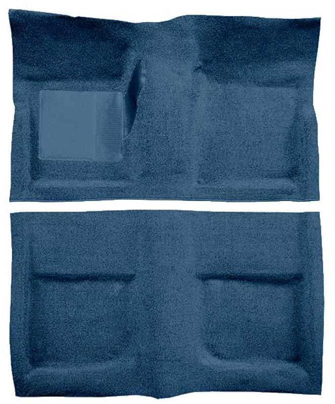 OER 1965-68 Mustang Coupe Passenger Area Loop Floor Carpet with Mass Backing - Ford Blue A4040B62