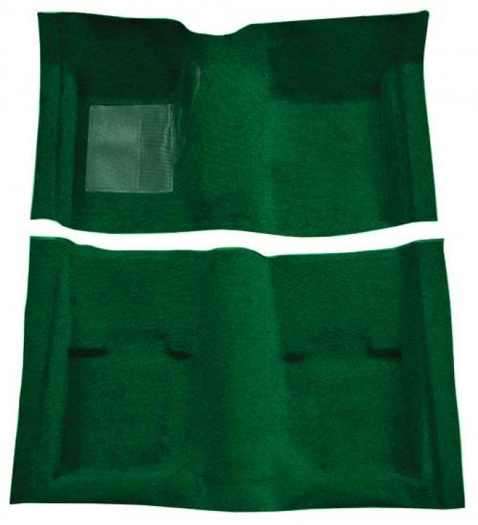 OER 1969-70 Mustang Convertible Passenger Area Nylon Loop Floor Carpet with Mass Backing - Green A4053B39