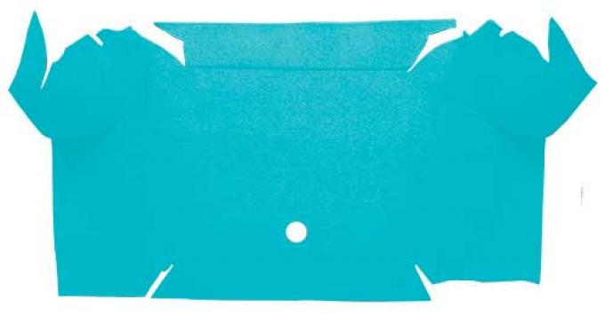 OER 1967-68 Mustang Convertible Nylon Loop Carpet Trunk Mat - Light Blue A4081A31