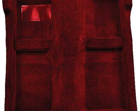 OER 1983-93 Mustang Convertible Passenger Area Floor Cut Pile Carpet Set - Maroon A4025A15