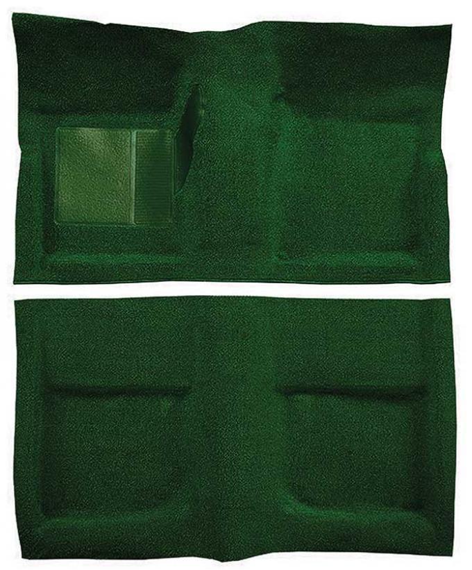 OER 1965-68 Mustang Coupe Passenger Area Nylon Loop Floor Carpet Set - Green A4045A39