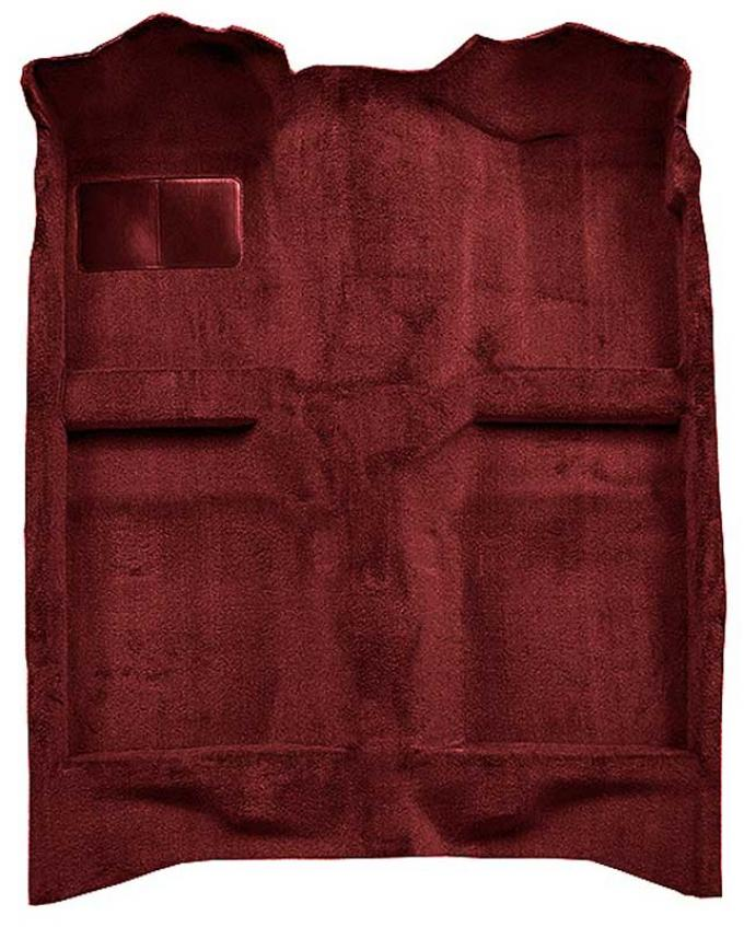 OER 1982-93 Mustang Coupe/Hatchback Passenger Area Cut Pile Carpet with Mass Backing - Oxblood A4022B21