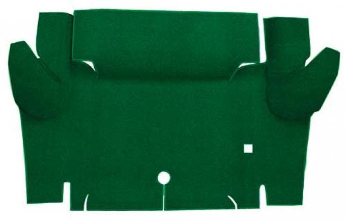 OER 1965-66 Mustang Convertible Nylon Loop Carpet Trunk Mat - Green A4069A39
