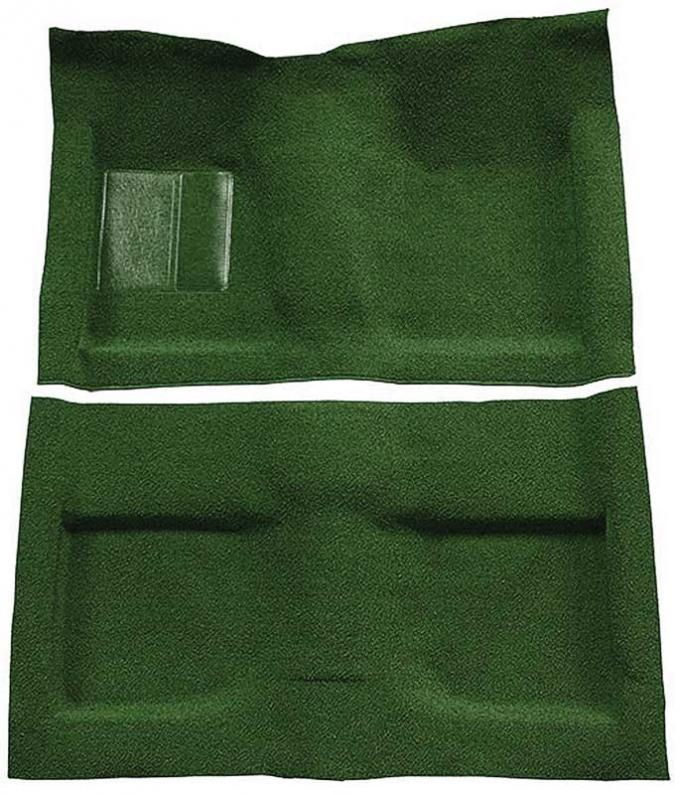 OER 1964 Mustang Convertible Passenger Area Nylon Loop Floor Carpet Set with Mass Backing - Green A4033B39