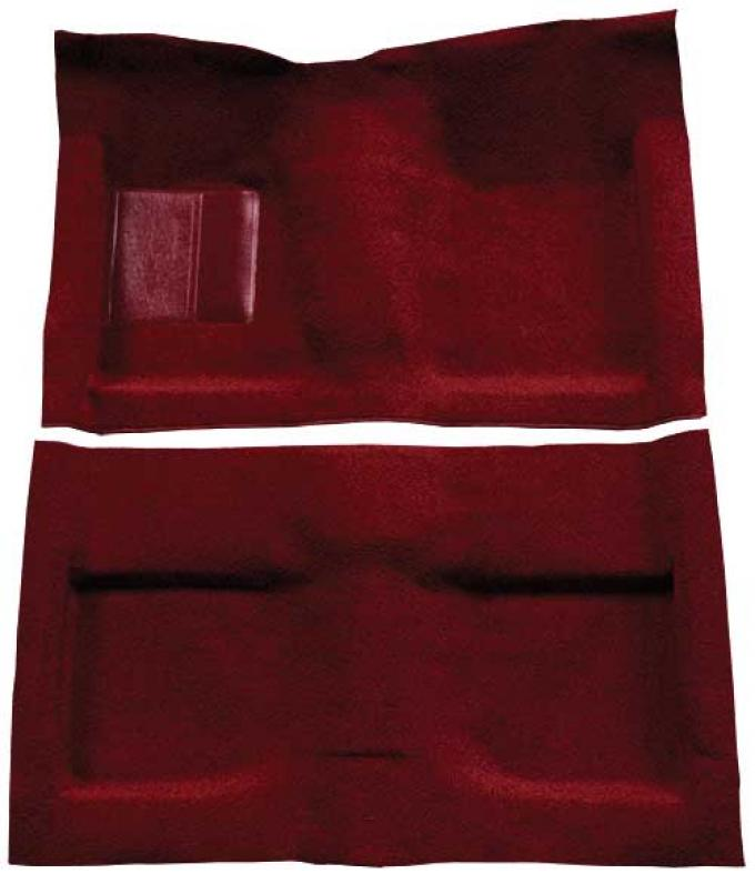 OER 1964 Mustang Convertible Passenger Area Loop Floor Carpet Set with Mass Backing - Maroon A4032B15
