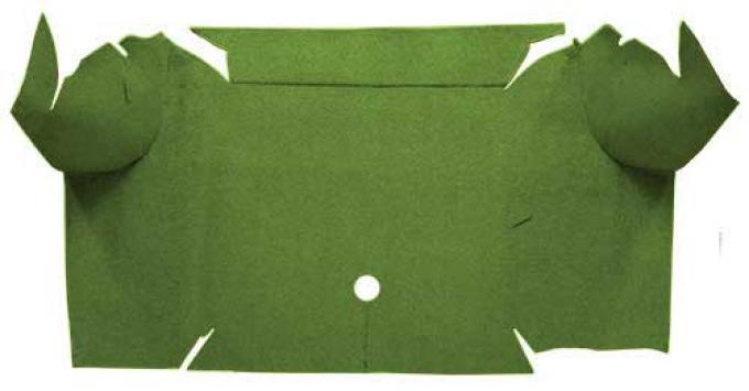 OER 1967-68 Mustang Convertible Nylon Loop Carpet Trunk Mat - Moss Green A4081A19
