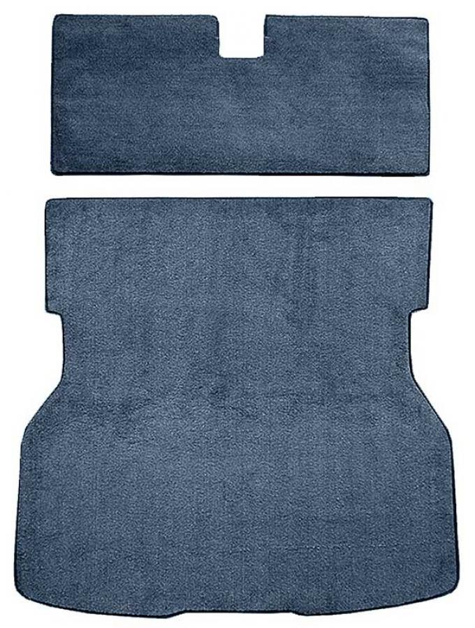 OER 1979-82 Mustang Rear Cargo Area Cut Pile Carpet with Mass Backing - Blue A4021B62