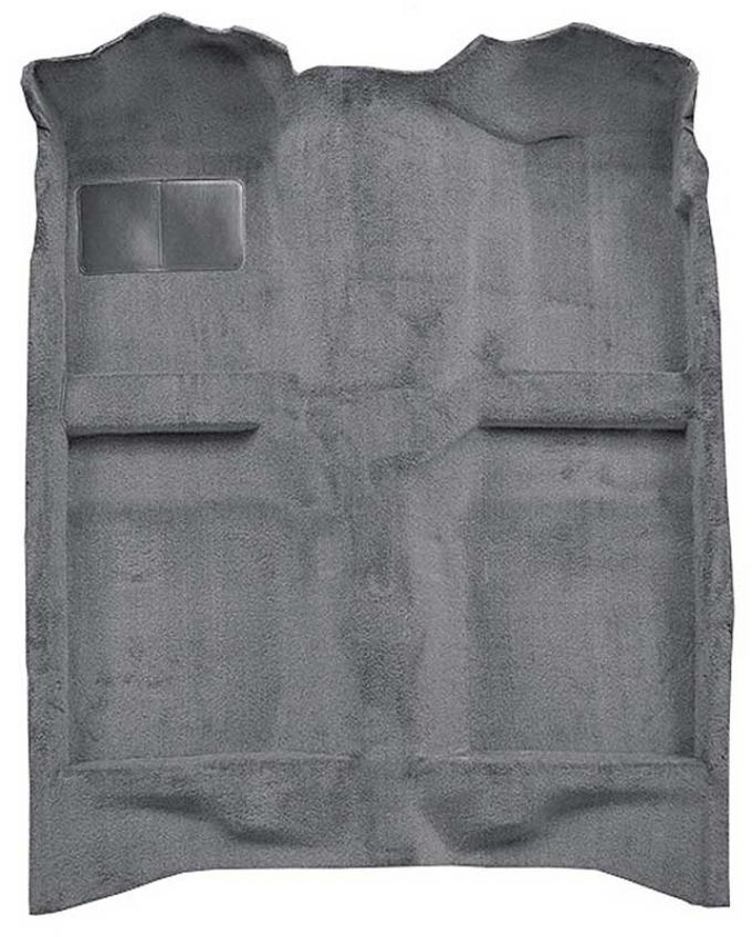 OER 1982-93 Mustang Coupe/Hatchback Passenger Area Cut Pile Carpet with Mass Backing - Medium Gray A4022B25